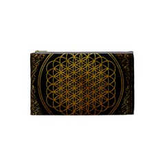 Bring Me The Horizon Cover Album Gold Cosmetic Bag (small)  by Onesevenart