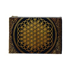 Bring Me The Horizon Cover Album Gold Cosmetic Bag (large)  by Onesevenart