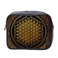 Bring Me The Horizon Cover Album Gold Mini Toiletries Bag 2 Side by Onesevenart