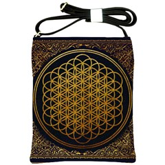 Bring Me The Horizon Cover Album Gold Shoulder Sling Bags by Onesevenart