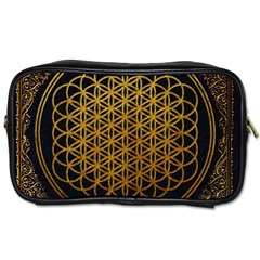 Bring Me The Horizon Cover Album Gold Toiletries Bags by Onesevenart