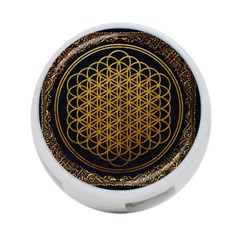 Bring Me The Horizon Cover Album Gold 4 Port Usb Hub (two Sides)  by Onesevenart