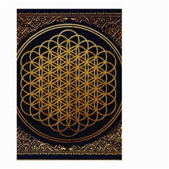 Bring Me The Horizon Cover Album Gold Small Garden Flag (two Sides) by Onesevenart