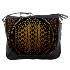 Bring Me The Horizon Cover Album Gold Messenger Bags by Onesevenart