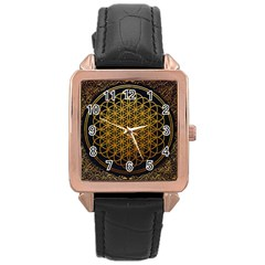 Bring Me The Horizon Cover Album Gold Rose Gold Leather Watch  by Onesevenart