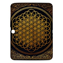 Bring Me The Horizon Cover Album Gold Samsung Galaxy Tab 3 (10 1 ) P5200 Hardshell Case  by Onesevenart