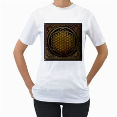Bring Me The Horizon Cover Album Gold Women s T Shirt (white)  by Onesevenart