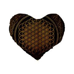 Bring Me The Horizon Cover Album Gold Standard 16  Premium Flano Heart Shape Cushions by Onesevenart
