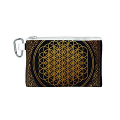 Bring Me The Horizon Cover Album Gold Canvas Cosmetic Bag (s) by Onesevenart