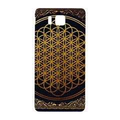 Bring Me The Horizon Cover Album Gold Samsung Galaxy Alpha Hardshell Back Case by Onesevenart