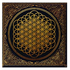 Bring Me The Horizon Cover Album Gold Large Satin Scarf (square) by Onesevenart
