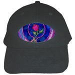 Enchanted Rose Stained Glass Black Cap