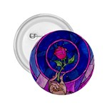 Enchanted Rose Stained Glass 2.25  Buttons