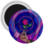 Enchanted Rose Stained Glass 3  Magnets