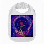 Enchanted Rose Stained Glass Bib
