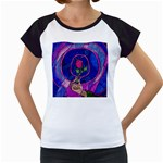 Enchanted Rose Stained Glass Women s Cap Sleeve T