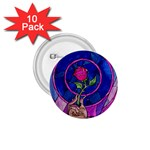Enchanted Rose Stained Glass 1.75  Buttons (10 pack)