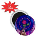 Enchanted Rose Stained Glass 1.75  Magnets (10 pack)