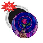 Enchanted Rose Stained Glass 2.25  Magnets (100 pack)