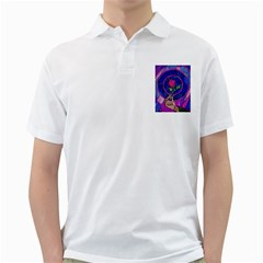 Enchanted Rose Stained Glass Golf Shirts by Onesevenart