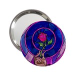 Enchanted Rose Stained Glass 2.25  Handbag Mirrors