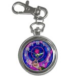 Enchanted Rose Stained Glass Key Chain Watches