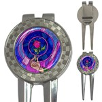 Enchanted Rose Stained Glass 3-in-1 Golf Divots