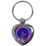 Enchanted Rose Stained Glass Key Chains (Heart)