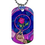 Enchanted Rose Stained Glass Dog Tag (One Side)