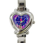 Enchanted Rose Stained Glass Heart Italian Charm Watch