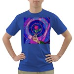 Enchanted Rose Stained Glass Dark T-Shirt
