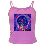 Enchanted Rose Stained Glass Dark Spaghetti Tank
