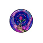 Enchanted Rose Stained Glass Hat Clip Ball Marker