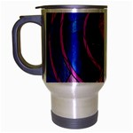 Enchanted Rose Stained Glass Travel Mug (Silver Gray)