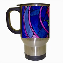 Enchanted Rose Stained Glass Travel Mugs (white) by Onesevenart