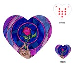 Enchanted Rose Stained Glass Playing Cards (Heart)
