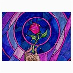 Enchanted Rose Stained Glass Collage Prints