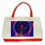 Enchanted Rose Stained Glass Classic Tote Bag (Red)
