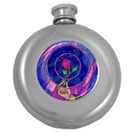 Enchanted Rose Stained Glass Round Hip Flask (5 oz)