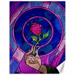 Enchanted Rose Stained Glass Canvas 12  x 16