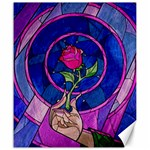 Enchanted Rose Stained Glass Canvas 20  x 24