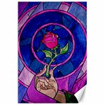 Enchanted Rose Stained Glass Canvas 20  x 30