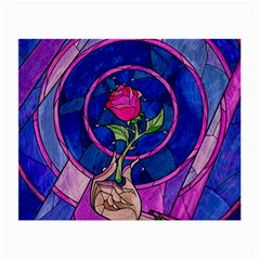 Enchanted Rose Stained Glass Small Glasses Cloth (2 Side) by Onesevenart