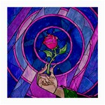 Enchanted Rose Stained Glass Medium Glasses Cloth (2-Side)