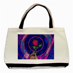 Enchanted Rose Stained Glass Basic Tote Bag (two Sides) by Onesevenart