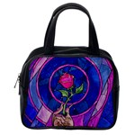 Enchanted Rose Stained Glass Classic Handbags (One Side)