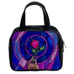 Enchanted Rose Stained Glass Classic Handbags (2 Sides)