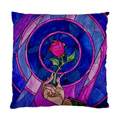 Enchanted Rose Stained Glass Standard Cushion Case (two Sides) by Onesevenart