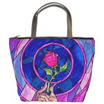 Enchanted Rose Stained Glass Bucket Bags