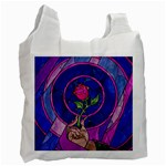 Enchanted Rose Stained Glass Recycle Bag (Two Side)